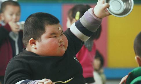 niños obesos en china